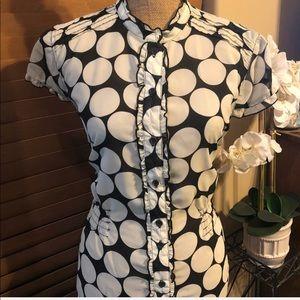 Polka dot Button blouse